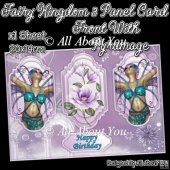 Fairy Kingdom 3 Panel Card Front