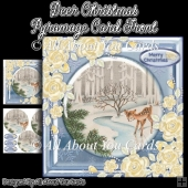 Deer Christmas Pyramage Card Front