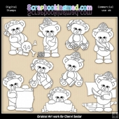 Stamps Sugar Plum Bears Pirates EXCLUSIVE Digital Stamp Graphics
