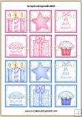 Birthday Cake Topper Sheet PDF Download