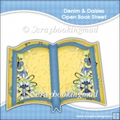 Denim and Daisies Open Book