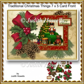 Traditional Christmas Things 7 x 5 Card Front