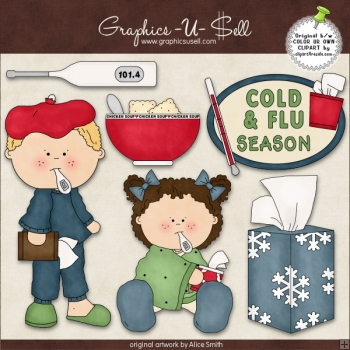 Cold And Flu Season 1 ClipArt Graphic Collection