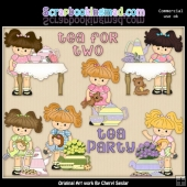 Little Lola Tea Party ClipArt Collection
