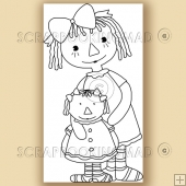 Annie N Rag Doll - Digital Stamps