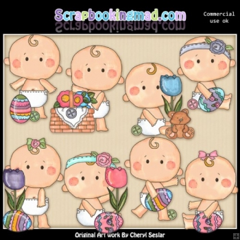 Button Babies Easter ClipArt Collection