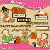 Country Wishes Halloween ClipArt Graphic Collection