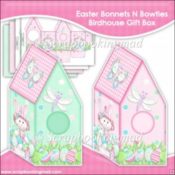 Easter Bonnets N Bowties Birdhouse Gift Box