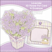 Lavender 3D Flower Pot & Envelope