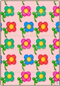 A4 Backing Papers Single - Pink Flowers - REF_BP_171