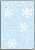 Backing Papers Single - Blue Snow Flakes - REF_BP_12