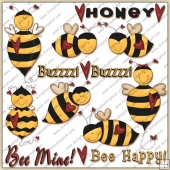 Honey Bee ClipArt Graphic Collection