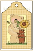 Sunflower Bears Gift Tag - REF_T595