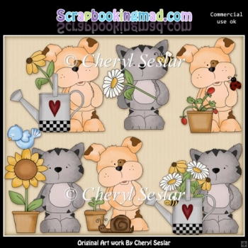Tuff And Tigers Little Garden ClipArt Collection