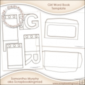 Girl Word Book Template Commercial Use