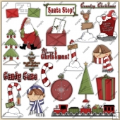 Twas The Night Before Christmas ClipArt Graphic Collection