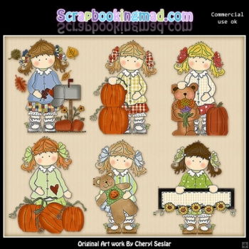 Holly Fall Blessings ClipArt Collection