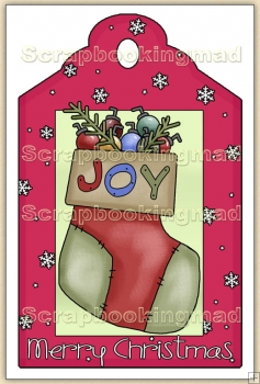 Christmas Stocking Decorative Tag - REF_T04