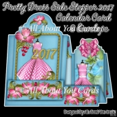 Pretty Dress Side Stepper 2017 Calendar Card & Envelope