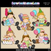 Bridgets Birthday ClipArt Collection