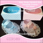 Baby Strapy Sandal & Box Template Overlay PDF Sheet