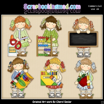 Holly Loves School ClipArt Collection