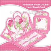 Romance and Roses Double Heart Easel Card