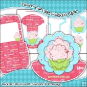Yummy Cupcake Rocker Card Download