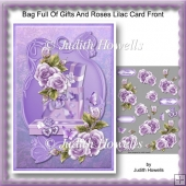 Bag Full Of Gifts And Roses Lilac Card Front