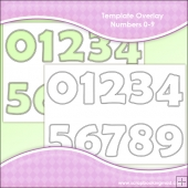 Template Overlay Numbers 0-9
