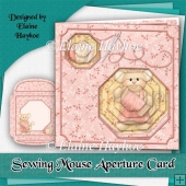 Sewing Mouse Aperture Card Kit