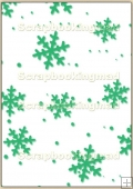 A4 Backing Papers Single - Green Snowflakes - REF_BP_124