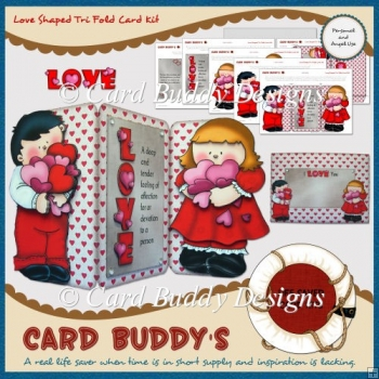 Love Shaped Tri Fold Card Kit