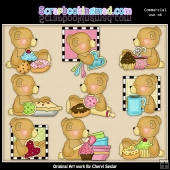 Stuffington At The Bakery ClipArt Collection