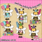 Sweet Beez Birthday ClipArt Graphic Collection