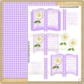 Sympathy Thinking Of You Open Book PDF Decoupage Download