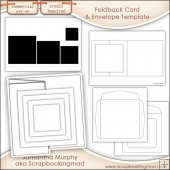 6X6 Foldback Card, Pyramage & Envelope Templates Commercial Use