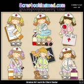Holly Little Nurses ClipArt Collection