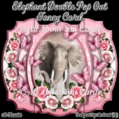 Elephant Double Pop Out Fancy Card
