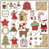 Christmas Cookies1 ClipArt Graphic Collection