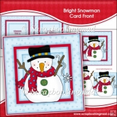 Bright Snowman Card Front