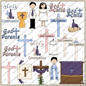 Holy Communion ClipArt Graphic Collection