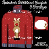 Reindeer Christmas Jumper Card & Envelope