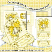 On Your Wedding Day, Golden Anniversary JPEG Easel Card Download