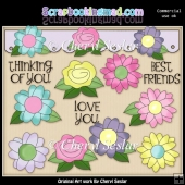 Floral Frenzy ClipArt Collection