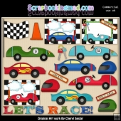 Lets Race ClipArt Collection
