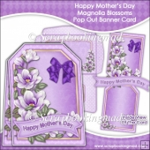Happy Mothers Day Magnolia Blossoms Pop Out Banner Card