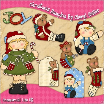 Christmas Bumpkin ClipArt Graphic Collection