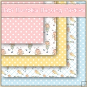 5 Baby Bumbles Backing Papers Download (C244)