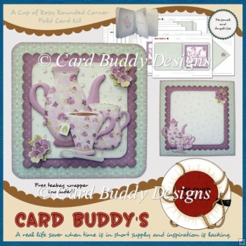 A Cup of Rosy Rounded Corner Fold Card Kit